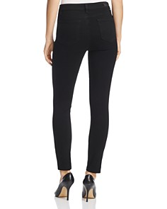 PAIGE - Hoxton Ankle Skinny Jeans in Black Shadow