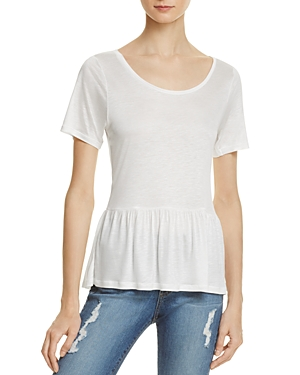 French Connection Miro Peplum Tee