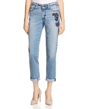Nydj Jessica Embroidered Boyfriend Jeans in Prima