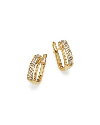 Bloomingdale's - Diamond Beaded Earrings in 14K Yellow Gold, .20 ct. t.w. - 100% Exclusive