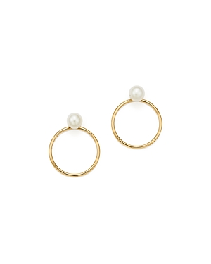 Zoe Chicco 14K Yellow Gold Cultured Freshwater Pearl Circle Earring Jackets