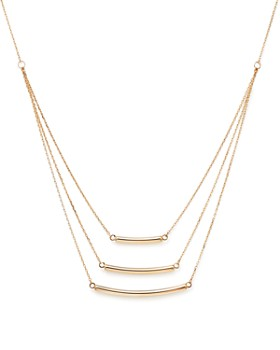 "Bloomingdale's - 14K Yellow Gold Triple Graduated Bar Necklace, 18"" - 100% Exclusive"