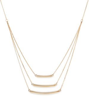 14K Yellow Gold Triple Graduated Bar Necklace, 18 - 100% Exclusive