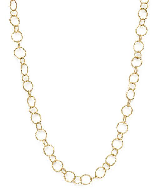 "Armenta - 18K Yellow Gold Sueno Yellow Circle Link Necklace, 18"""