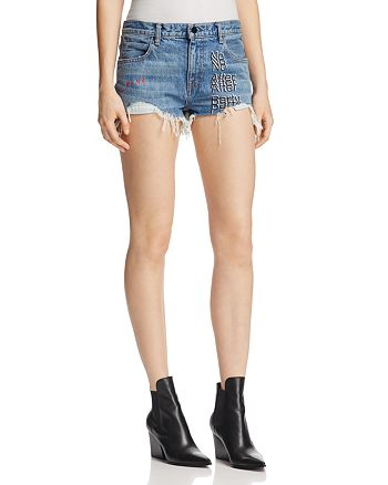 T by Alexander Wang - No After Party Denim Shorts in Light Indigo