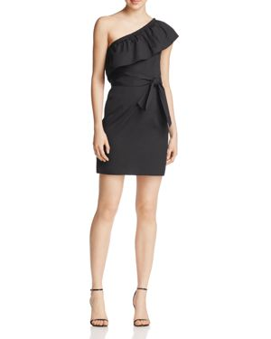 Milly Tara One-Shoulder Ruffle Dress
