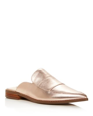 Charles David Porter Metallic Leather Mules