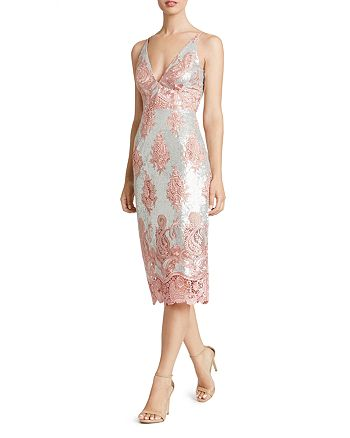 Dress the Population - Angela Sequin & Lace Dress
