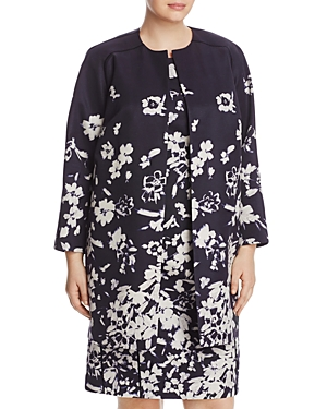 Lafayette 148 New York Plus Makeda Floral Print Jacket