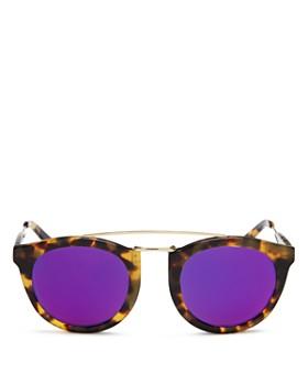 Lyndon Leone - Women's Henry Mirrored Round Sunglasses, 49mm - 100% Exclusive