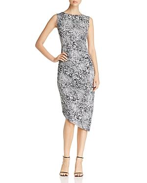 Calvin Klein Snake Print Asymmetric Dress