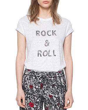 Zadig & Voltaire Rock & Roll Graphic Tee