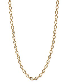 Roberto Coin - 18K White and Yellow Gold New Barocco Diamond Necklace, 16""