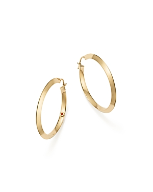 Roberto Coin 18K Yellow Gold Oro Classic Hoop Earrings