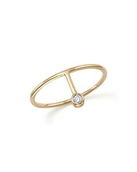 MATEO - 14K Yellow Gold Diamond Point Ring