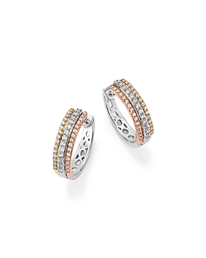 Click here for Diamond Triple Row Hoop Earring in 14K Gold  .50 c... prices
