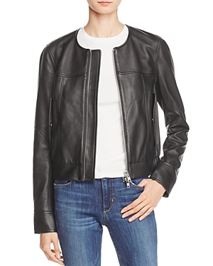 Theory Onorelle Leather Moto Jacket