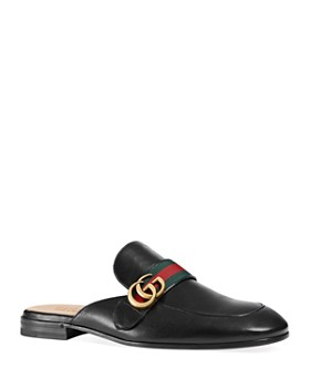 Gucci - Men's Princetown Leather Slippers with Double G