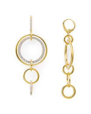 Nadri Circle Links Earrings