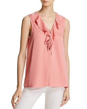 L'Academie The Sleeveless Ruffle Top