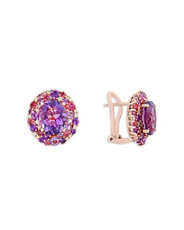 Bloomingdale's - Amethyst, Pink Tourmaline and Diamond Earrings in 14K Rose Gold- 100% Exclusive