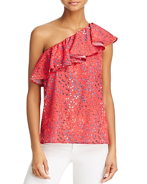 French Connection Frances One-Shoulder Ruffle Top