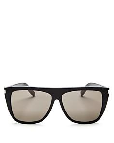 Saint Laurent - Men's Flat Top Square Sunglasses, 59mm