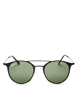 Ray-Ban Double Bar Round Sunglasses, 49mm 2416814