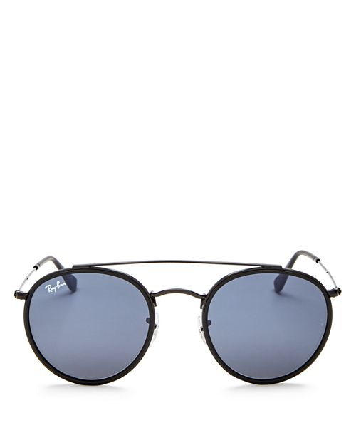 Ray-Ban - Unisex Icons Retro Brow Bar Round Sunglasses, 50mm