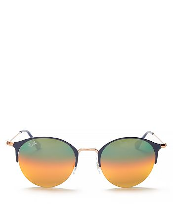 Ray-Ban - Unisex Mirrored Round Sunglasses, 50mm