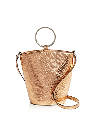 Street Level Rayne Metallic Embossed Mini Bucket Bag - 100% Exclusive