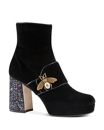 Gucci - Women's Soko Bee Platform Booties
