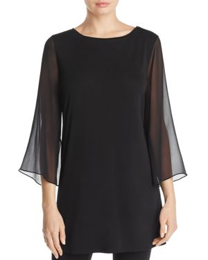 Eileen Fisher Sheer Sleeve Tunic - 100% Exclusive