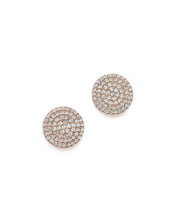 6e921b73c Bloomingdale's - Diamond Disk Stud Earrings in 14K Rose Gold, .40 ct. t.w.