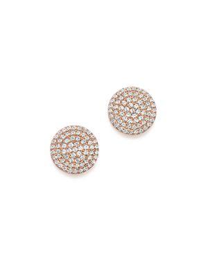 Diamond Disk Stud Earrings in 14K Rose Gold, .40 ct. t.w. - 100% Exclusive