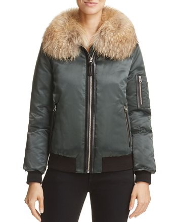 Mackage - Rella Fur-Trim Down Bomber Jacket - 100% Exclusive