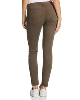 cb9a262d9a4 ... AG - Sateen Legging Ankle Jeans in Army Green - 100% Exclusive