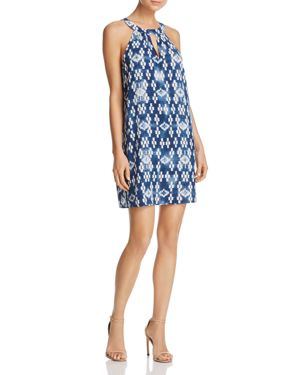 Aqua Keyhole Printed Dress - 100% Exclusive