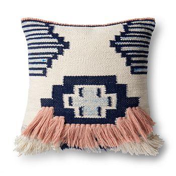 "Loloi - Austin Fringe Pillow, 13"" x 21"""