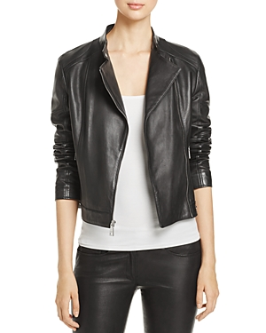 Dkny Leather Moto Jacket at Bloomingdale's