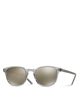 Oliver Peoples - Women's Fairmont Round Mirrored Sunglasses, 49mm