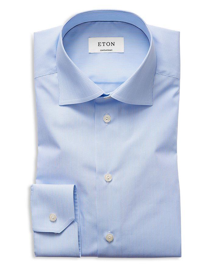 Eton - Basic Regular Fit Skinny Bengal Stripe Dress Shirt