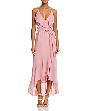 Wayf Brandi Ruffled Maxi Wrap Dress