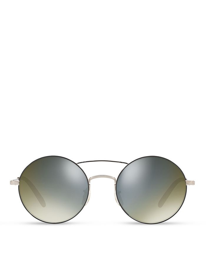 1a74b664936 Oliver Peoples - Women s Nickol Mirrored Round Sunglasses