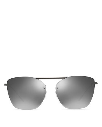 Oliver Peoples - Women's Ziane Mirrored Sunglasses, 61mm