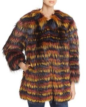 7efd1e8298ed Maximilian Furs - Multicolored Fox Fur Coat ...