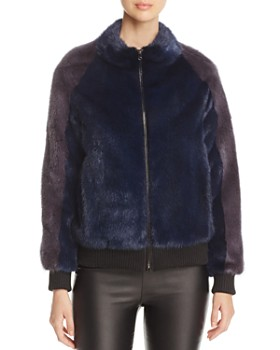 Maximilian Furs - Mink Fur Bomber Jacket - 100% Exclusive