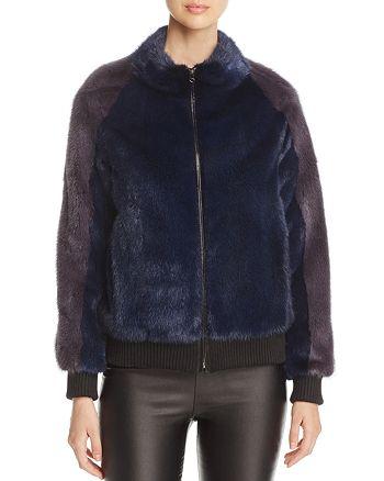 Maximilian Furs - Mink Fur Bomber Jacket - 100% Exclusive