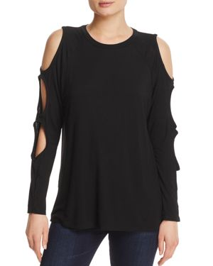 Alison Andrews Cutout Sleeve Top