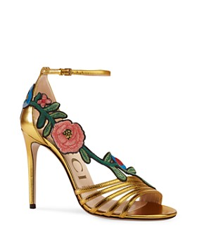 Gucci - Women's Embroidered High-Heel Sandals